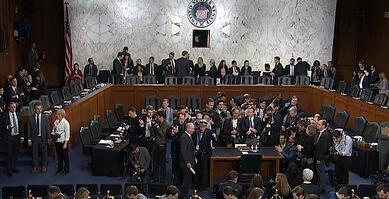 Waiting for Zuckerberg at the House Congressional Hearing